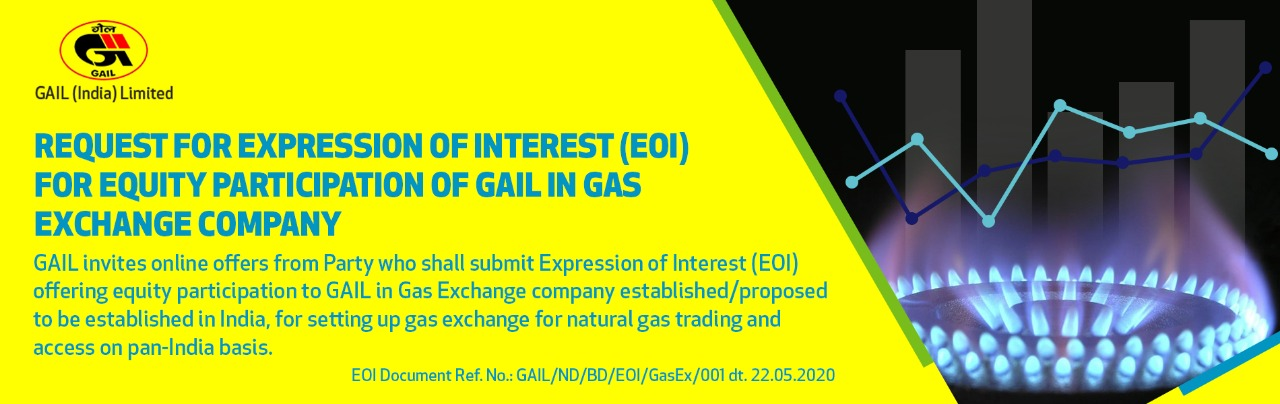Request For Expression Of Interest (EOI) For Equity Participation Of GAIL In Gas Exchange Company- Corrigendum-1 dated 29.05.2020